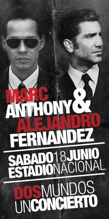 Alejandro Fernandez y Marc Anthony en Costa Rica - Venta entradas