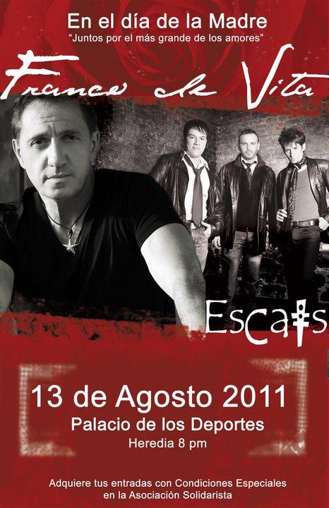 Escats con Franco de Vita en Costa Rica - Adondeirhoy.com