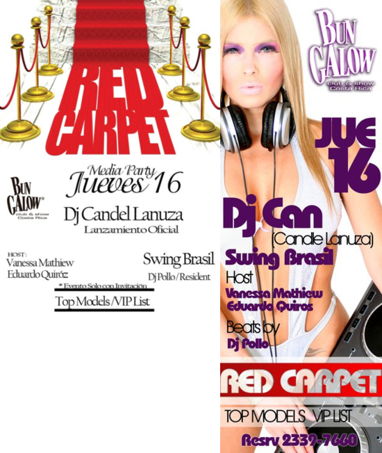 Red Carpet con DJ Candle Lanuza en Club Bungalow