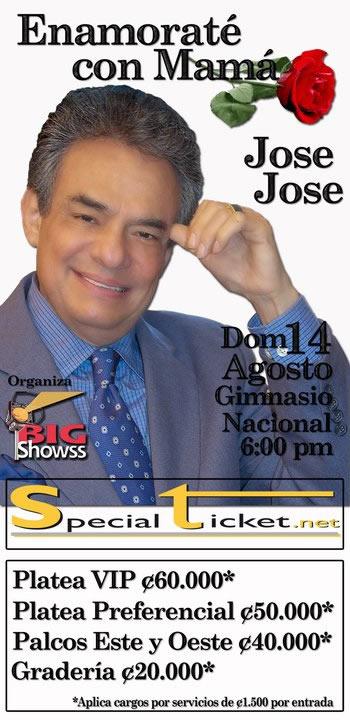 Jose Jose en Costa Rica
