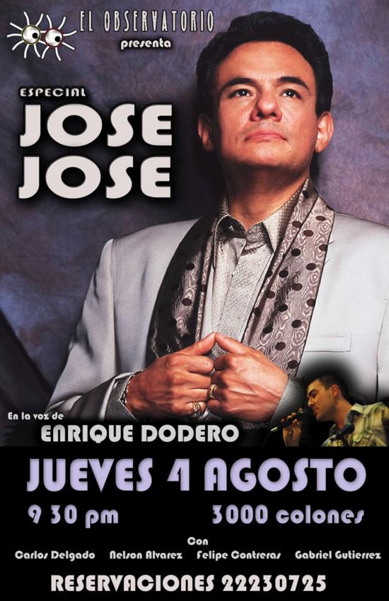 Tributo Jose Jose en Costa Rica