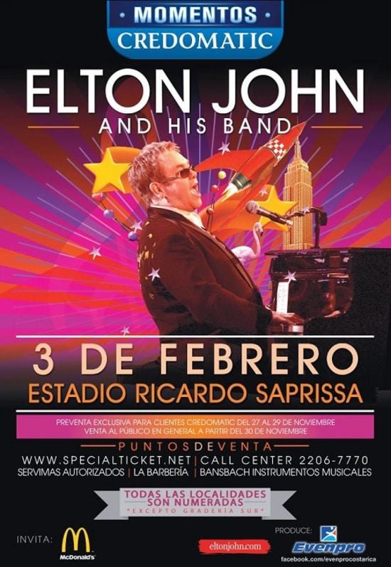 Elton John en Costa Rica