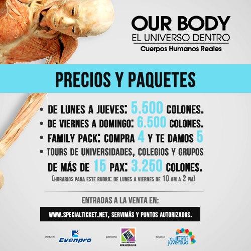 Renombrada Exposicion OUR BODY en Costa Rica