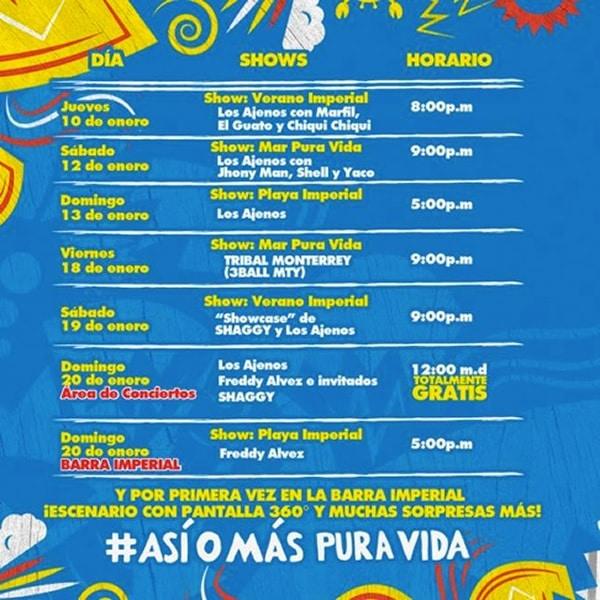 Actividades de la Barra Imperial en las Fiestas Palmares 2013