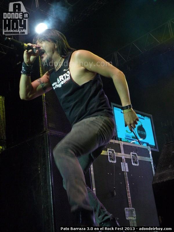 Pato Barraza 3 punto 0 en el Rock Fest 2013