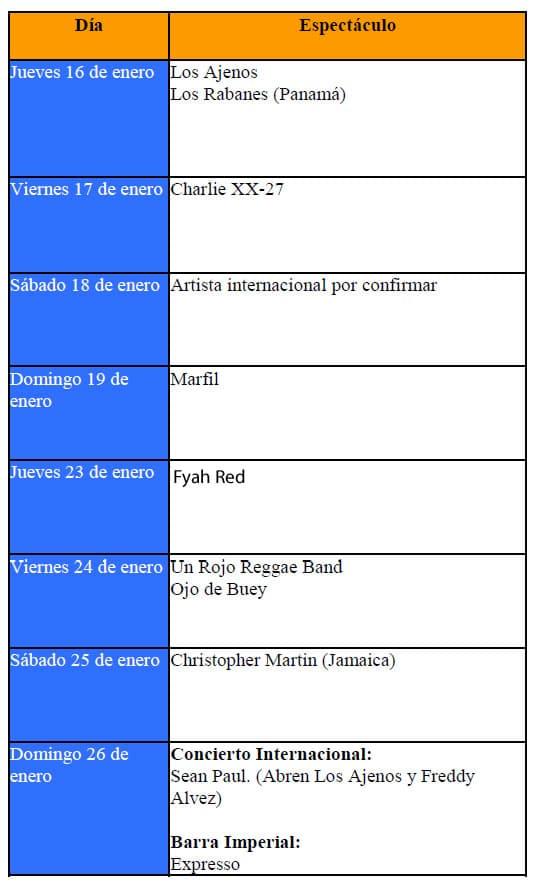 Calendario Barra Imperial Palmares 2014