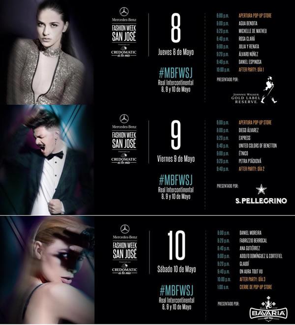 Grandes nombres en el Mercedes Benz Fashion Week San Jose 2014