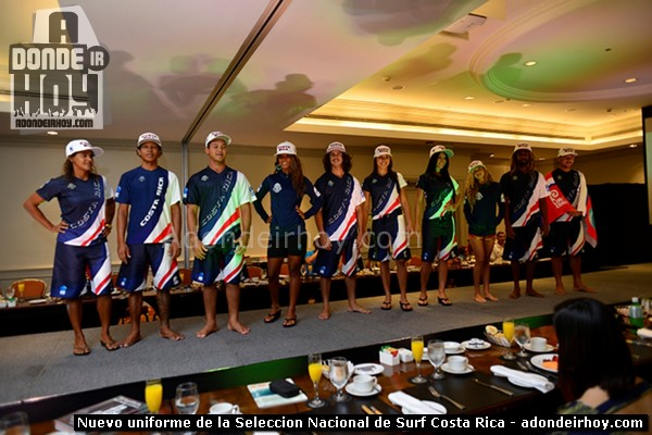 Nuevo uniforme de la Seleccion Nacional de Surf