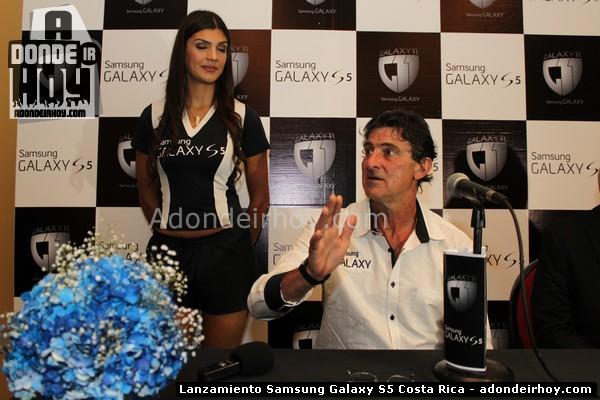 Lanzamiento Samsung Galaxy S5 #Galaxy11 y Mario Kempes en Costa Rica