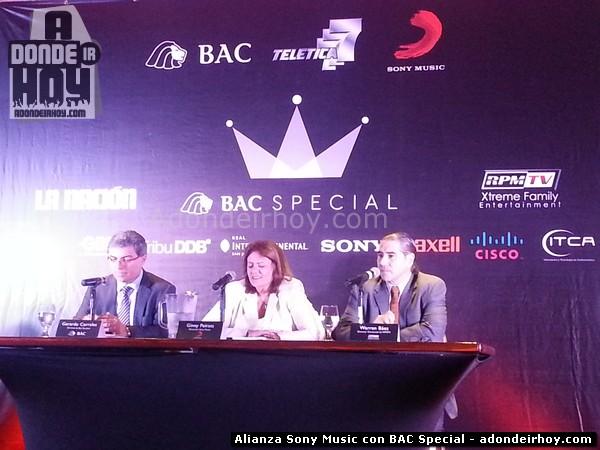 Alianza Sony Music con BAC Special