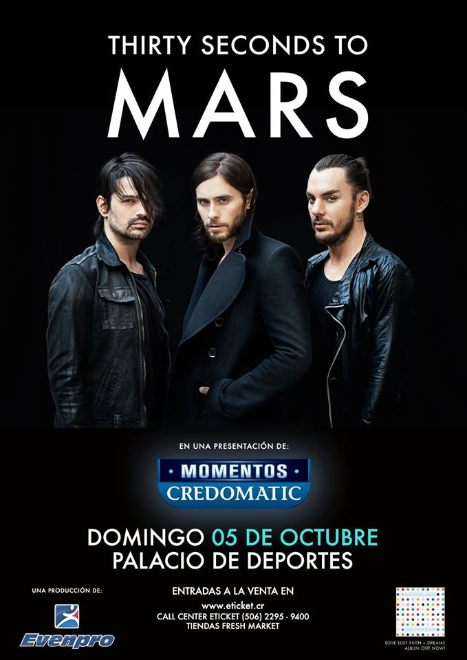 thirty seconds to mars en costa rica