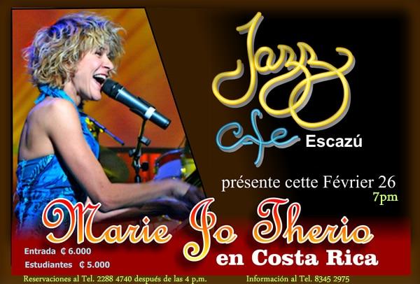 Marie Jo Thério y su piano en Costa Rica