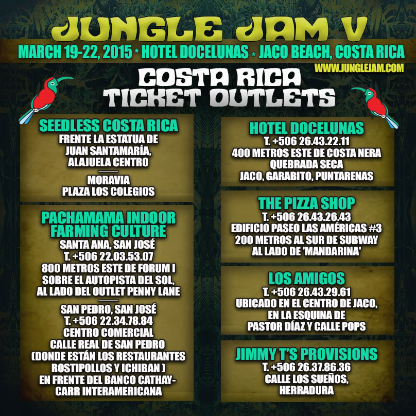 Entradas Jungle Jam V 2015 Costa Rica