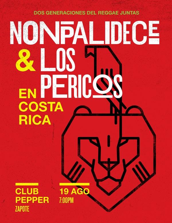 Concierto Nonpalidece y Los Pericos en Costa Rcia 2015