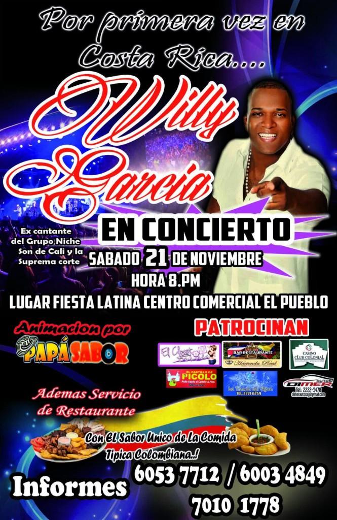 Willy García dará concierto en Costa Rica