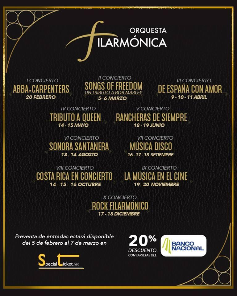 Orquesta Filarmónica de Costa Rica 2016