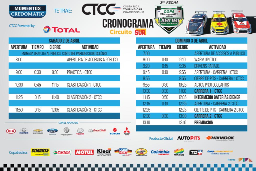 Tercera Fecha CTCC 2016 Copa Baterías Diener