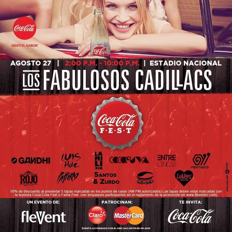 Coca Cola Fest: Concierto Fabulosos Cadillacs en Costa Rica
