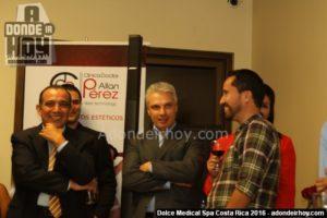 Juan Ma Vargas y Norval Calvo - Inauguración Dolce Medical Spa
