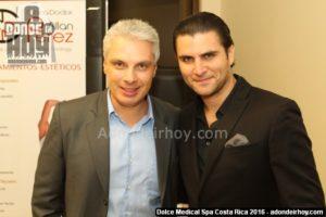 Norval Calvo y Joaquin Yglesias - Inauguración Dolce Medical Spa