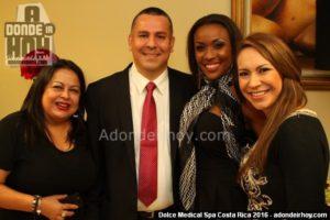 Dr. Allan Pérez Baltodano y Glenda Medina - Inauguración Dolce Medical Spa