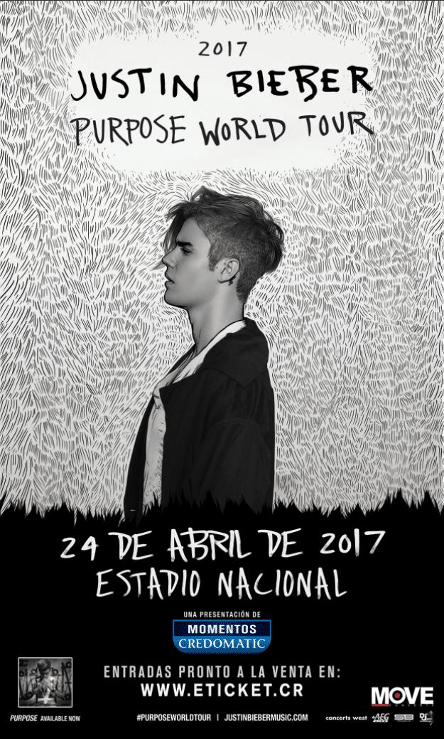 Entradas Gratis al Concierto de Justin Bieber en Costa Rica 2017