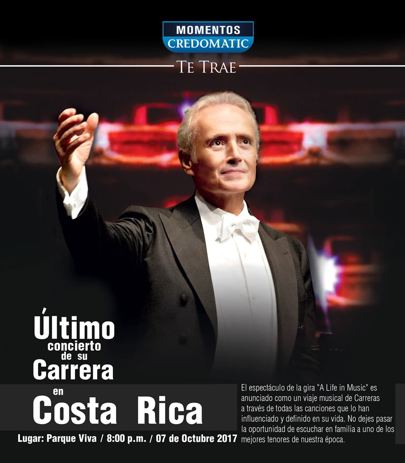 Tenor José Carreras en Costa Rica