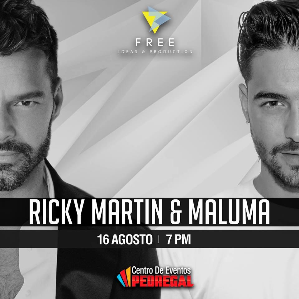 Maluma y Ricky Martin en Costa Rica