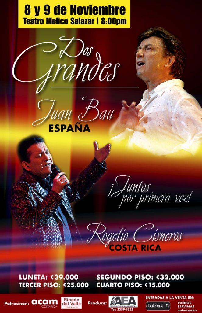 Juan Bau y Rogelio Cisneros Cantarán en el Melico