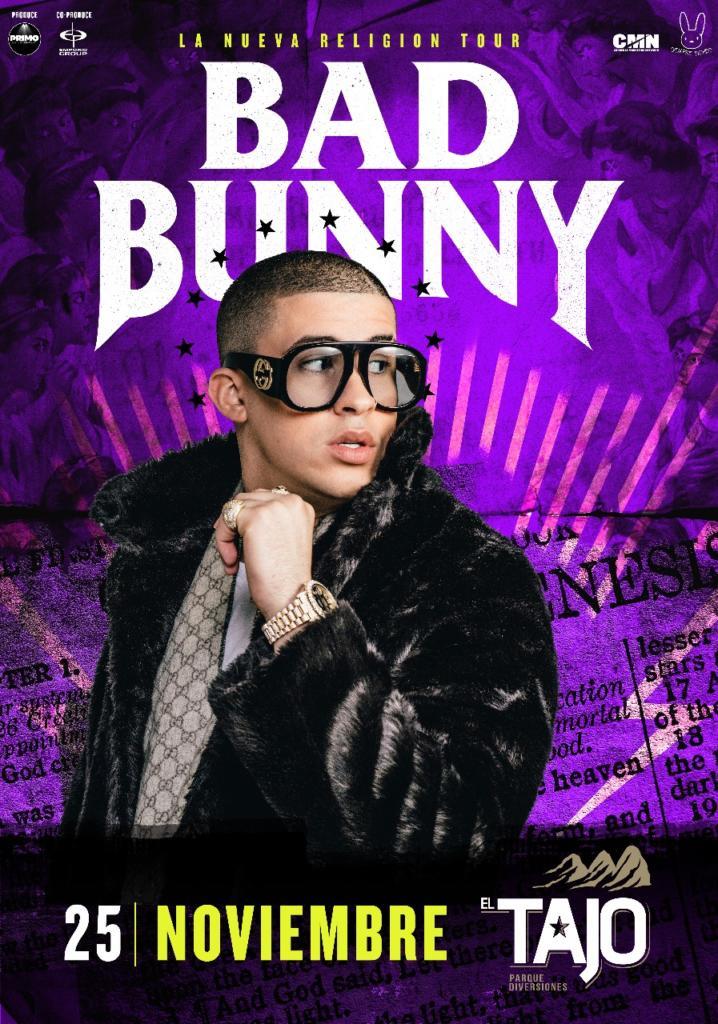 Bad Bunny confirma fecha de concierto en Costa Rica
