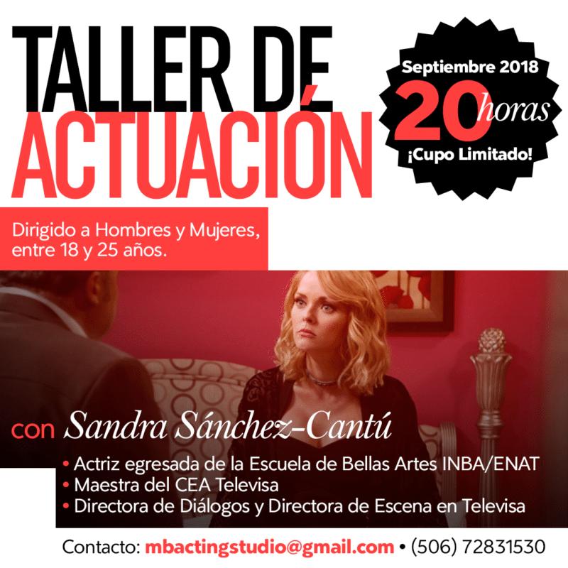 Taller de Actuación en Costa Rica con Maestra del CEA Televisa