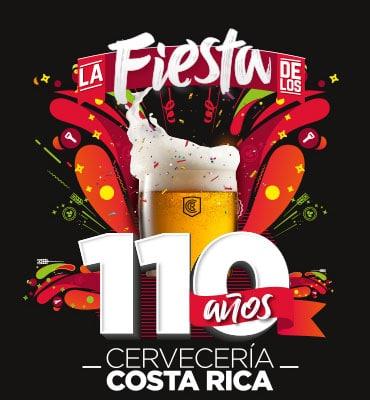 Cervecería Costa Rica 110 años para festejar con vos y tus amigos