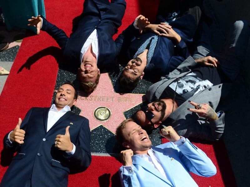 Bacstreet Boys Hollywood star