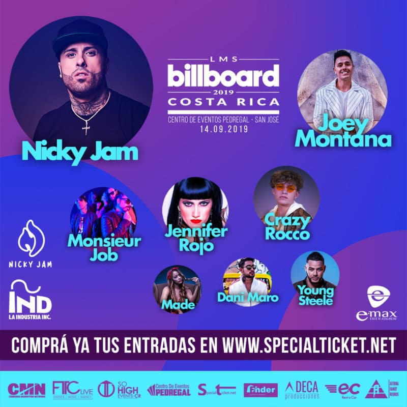 Billboard Latin Music Showcase en Costa Rica