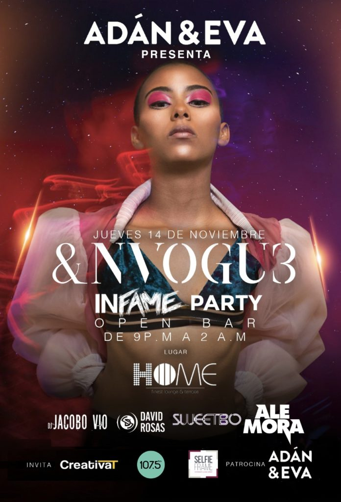 &NVOGU3 INFAME Party celebra concepto Stylish Nightlife